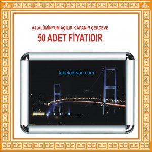 A4 AÇILIR KAPANIR ALÜMİNYUM ÇERÇEVE