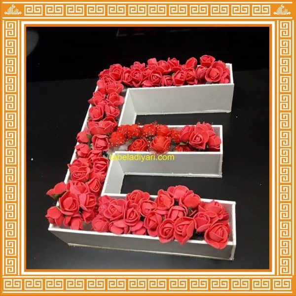 kişiye özel çiçek harf