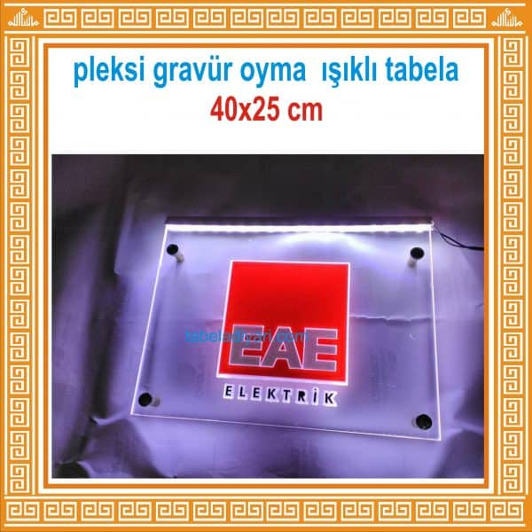 pleksi gravür oyma led tabela