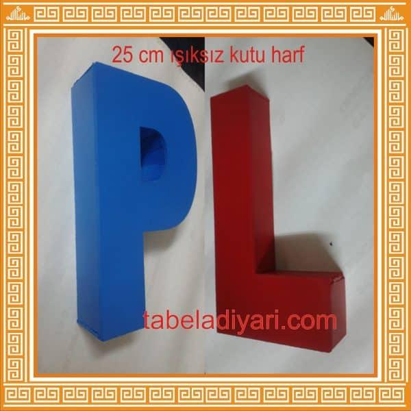 ucuz kabartma harf ışıksız kutu harf tabela
